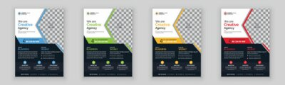 Obraz Creative corporate and business flyer template design with clean design