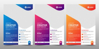 Obraz Creative Corporate & Business Flyer Brochure Template Design, abstract business flyer, vector template design. Brochure design, cover, annual report, poster, flyer