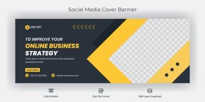 Obraz Creative corporate business marketing social media Facebook cover banner post template