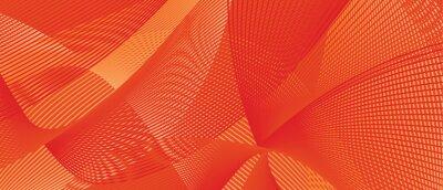 Obraz creative line wave background design for autumn. Orange color vector template for banner, backgrounds, leaflet, and cover designs