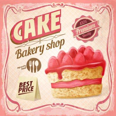 Obraz cukiernia piekarnia rocznika banner
