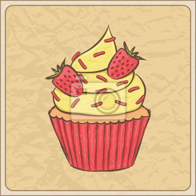 Obraz Cupcake karty