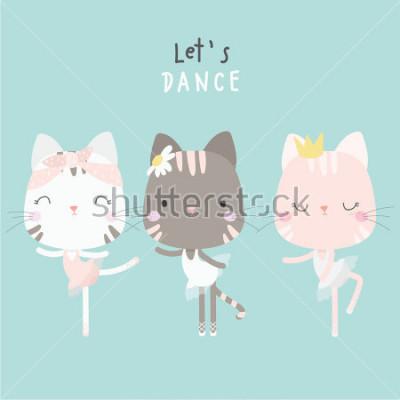 Obraz cute cat dance