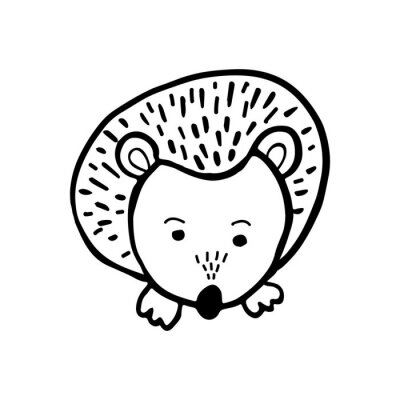 Cute Hedgehog trendy for decoration interior, print posters, greating card, bussines banner, wrapping in modern scandinavian style in vector. Pastel color.