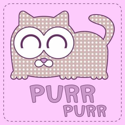 Obraz Cute karty wektor z sypialni kotka