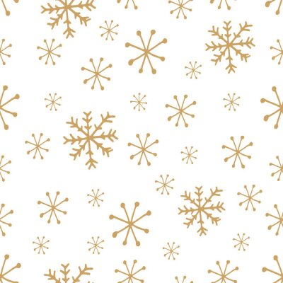 Cute snowflakes pattern in modern scandinavian style in vector. Absctract nordic geometric design for winter decoration interior, print posters, greating card, bussines banner, wrapping.