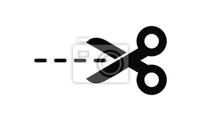 Obraz Cutting scissors icon