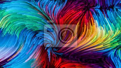 Obraz Cyfrowa kolorowa farba