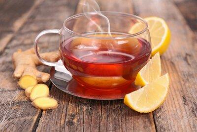 Obraz cytryny i imbir herbaty