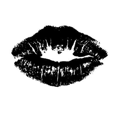 Obraz Czarne usta całują