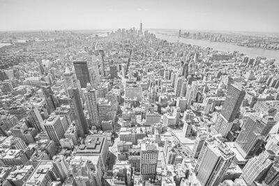 Obraz Czarno-białe kontrasty widok Manhattanu w Nowym Jorku.