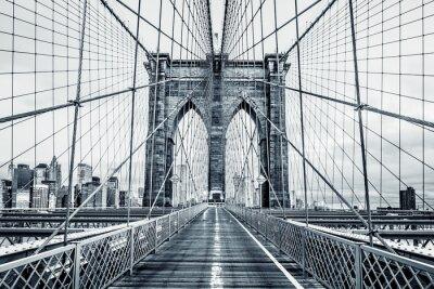Obraz Czarno-biały Brooklyn Bridge