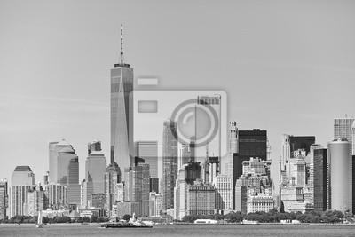 Czarno-biały obraz panoramę Nowego Jorku, USA.