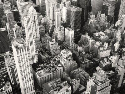 Obraz Czarno-biały widok sercu Nowego Jorku