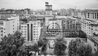 Czarno-biały Xian miasta, Chiny