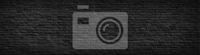 Obraz Czarny ceglany mur tło.