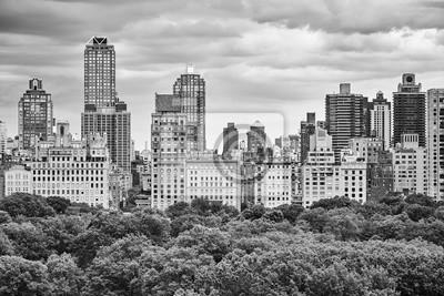 Czarny i biały obrazek Manhattan Górna wschodnia część, Miasto Nowy Jork, usa.