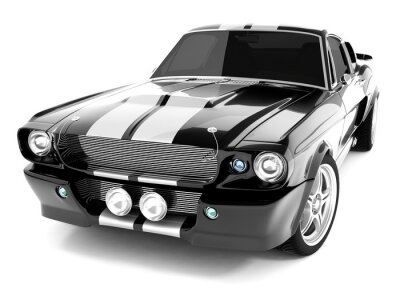 Obraz Czarny klasyczny samochód sportowy