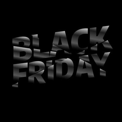 Czarny piątek sprzedaż szablon projektu napis. Czarny piątek. Wektorowa ilustracja eps 10.