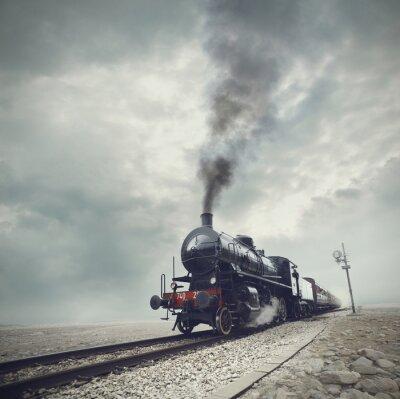Obraz czarny pociąg