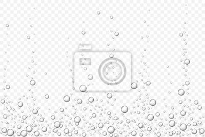 Obraz czarny podwodne pęcherzyki powietrza tekstury na białym tle