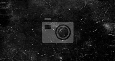 Obraz Czarny porysowany tło grunge, stary efekt filmu, miejsca na tekst