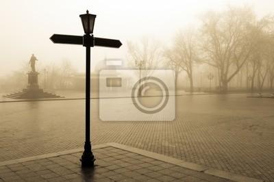 czas w mgle, Centrum miasta