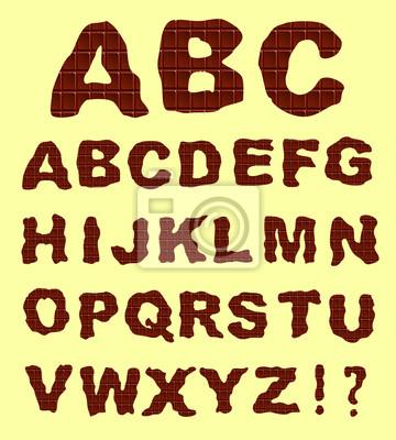 czekolada alfabet