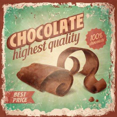 Obraz czekolada baner retro