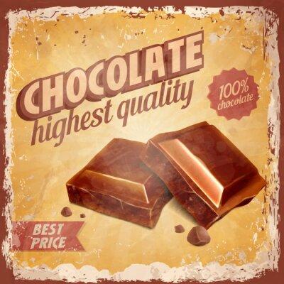 Obraz czekolada rocznika