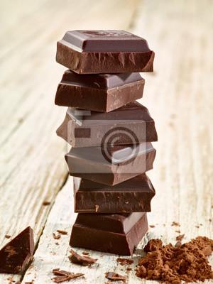 Obraz czekoladowy deser słodkie jedzenie