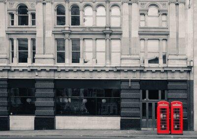 Obraz Czerwona budka telefoniczna