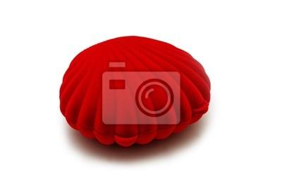 czerwona ramka w kształcie muszli perłowej
