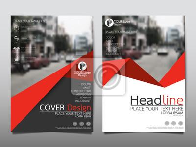 Obraz Czerwona ulotka okładka broszura biznesowa wektora projektu, ulotki reklamowe streszczenie tle, plakat szablonu nowoczesnego plakatu magazynu, roczne sprawozdanie z prezentacji.