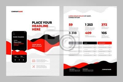 Czerwone tło abstrakcyjne dla dokumentów biznesowych, ulotki i plakaty. Technologie mobilne, aplikacje i usługi online plansza koncepcja.