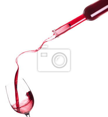 Czerwone wino rozpryskiwania