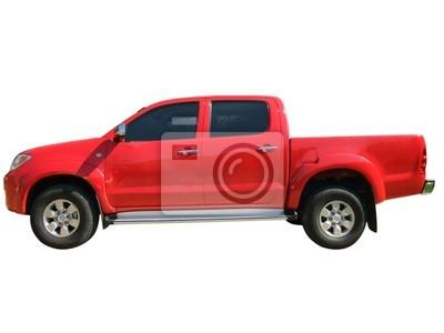 czerwony samochód samodzielnie