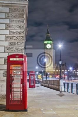 Czerwony telefon w Londynie