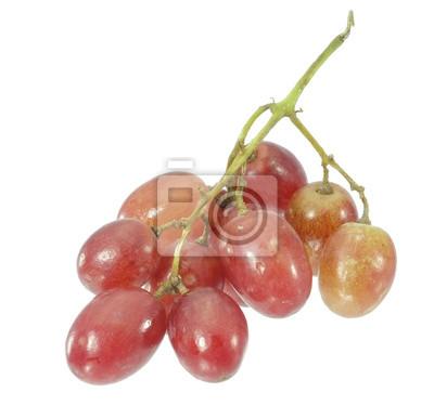 Czerwonych winogron / czerwonych winogron na białym tle.