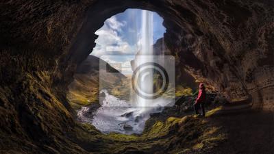 Obraz Człowiek i przyroda - ISLANDIA