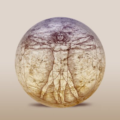 Obraz Człowiek witruwiański, Leonardo da Vinci