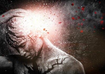 Obraz Człowiek z duchowego ciała sztuki konceptualnej