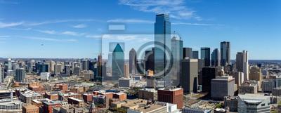 Obraz Dallas, Texas cityscape with blue sky at sunny day