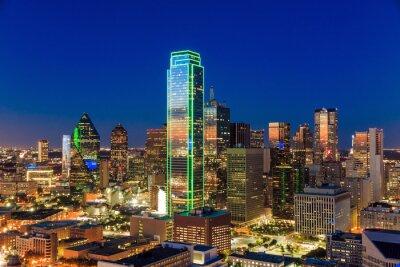 Obraz Dallas, Texas Pejzaż z błękitne niebo o zachodzie słońca