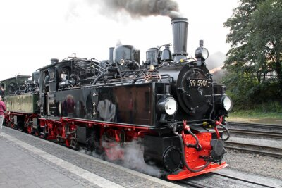 Obraz Dampflokomotive der Harzer Schmalspurbahnen