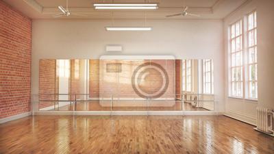 Obraz Dance or ballet studio interior. 3d illustration