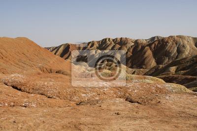 Danxia ukształtowanie terenu w Zhangye, Chiny