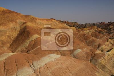 Obraz Danxia ukształtowanie terenu w Zhangye, Chiny