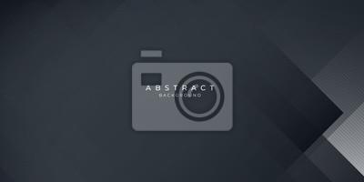 Obraz  Dark black neutral abstract background for presentation design