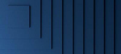 Obraz Dark blue modern background with three dimensional steps